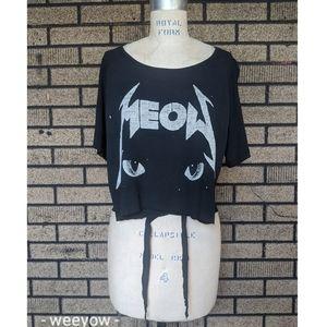 UNIF Tops - 😺 UNIF Meow crop top shirt M GUC